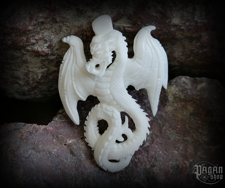 Pendant Dragon Smuga - bone