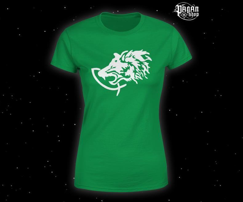 Women's T-shirt Fenrir green