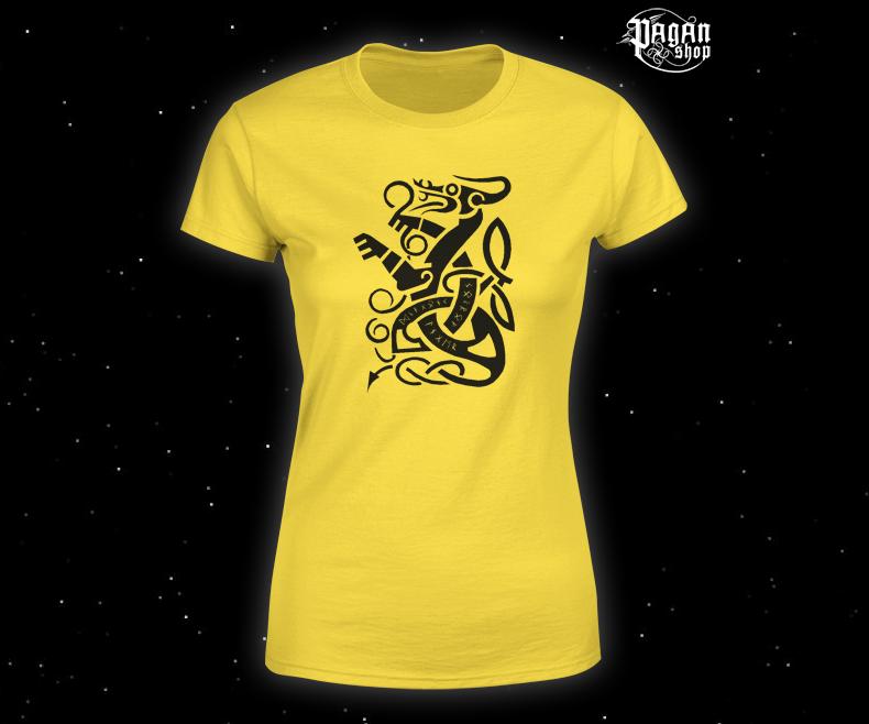 Women's T-shirt Dragon yellow