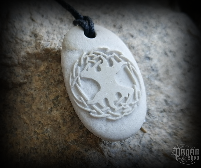 Pendant Yggdrasil - river stone