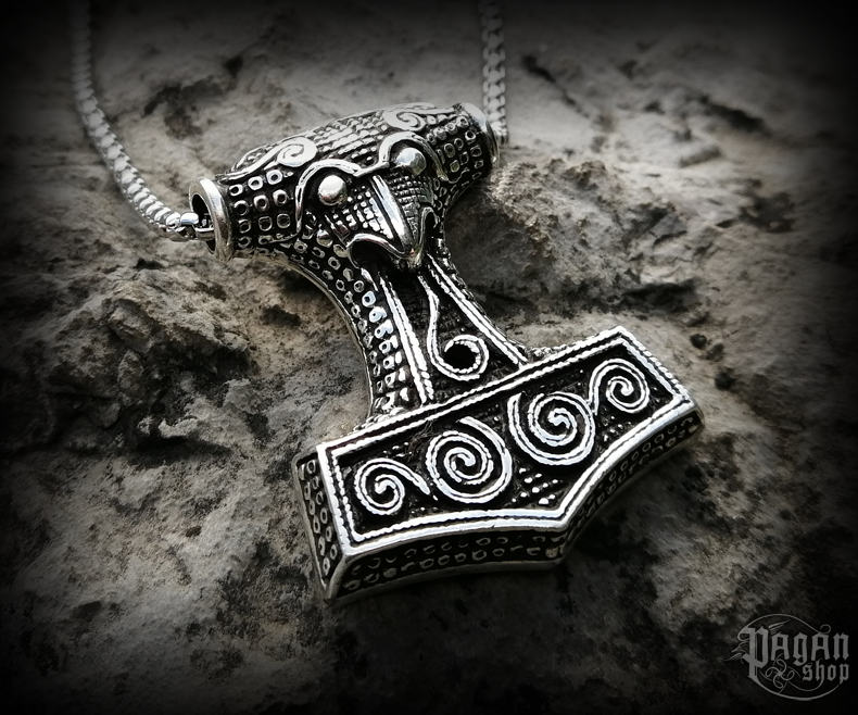 Pendant Thor's hammer Thorthal - 925 sterling silver - 34 g