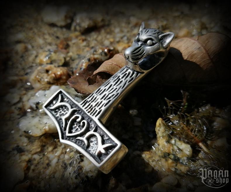 Pendant Thor's hammer Varg - 925 sterling silver - 31 g
