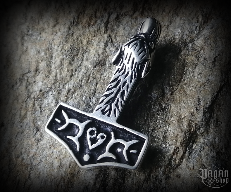 Pendant Thor's hammer Ulv - 925 sterling silver