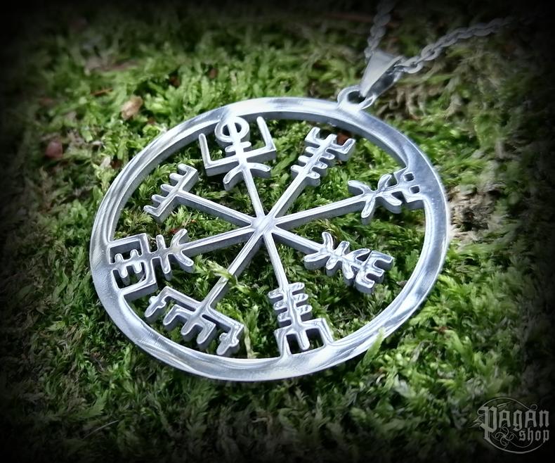 Pendant Vegvisir Leiftrandi with chain - 316L