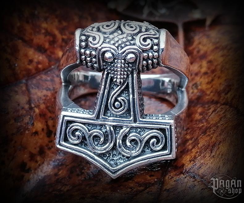 Prsten Thorovo kladivo Tolír - Ag 925/1000 - 13 g
