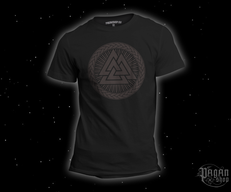 T-shirt Valknut black - black print