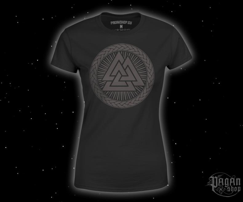 Women's T-shirt Valknut - black print