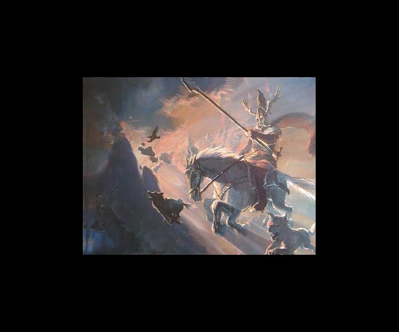 Poster Odin and Sleipnir