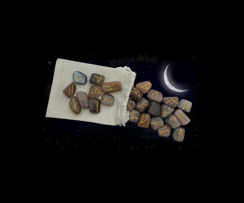 Rune stones - moonstone