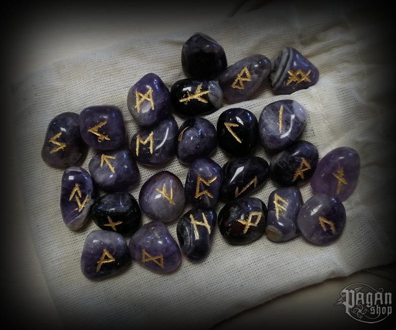 Runové kameny - ametyst