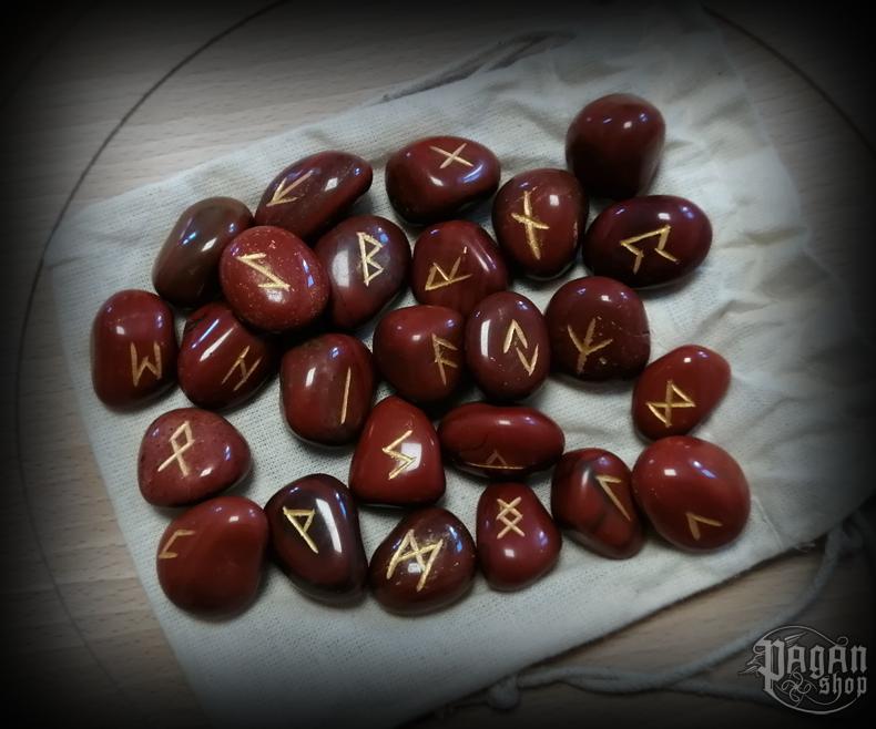 Runové kameny - červený jaspis