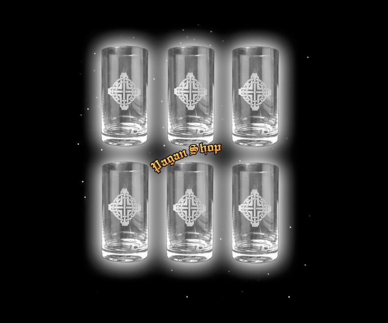 Glass Celtic cross - 6 pcs