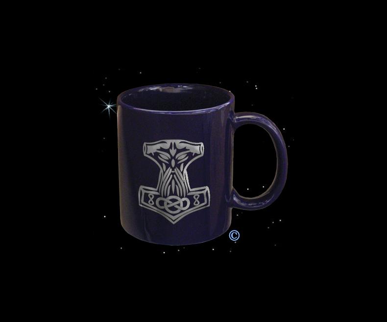Mug Thor's hammer blue