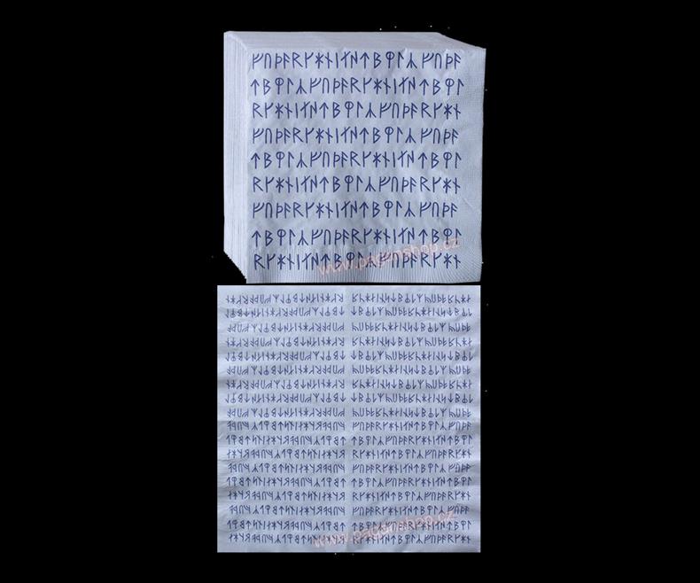 Napkins with runes