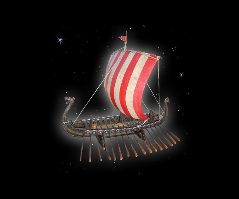 Model of a Viking ship