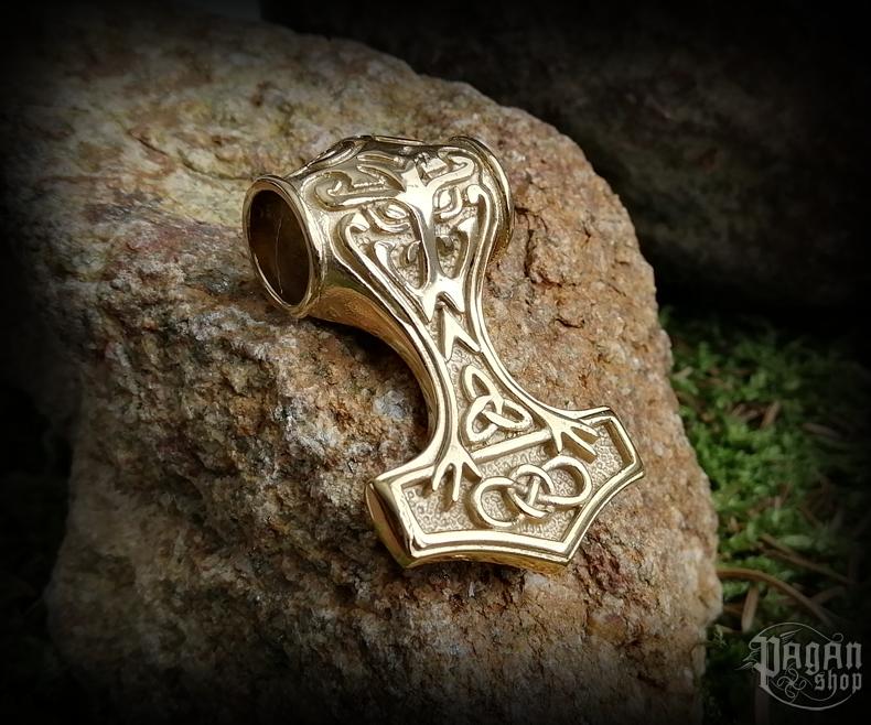 Pendant Thor's hammer Gull - 316L