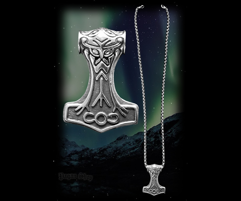 Pendant Thor's hammer Nordmann with chain - 316L