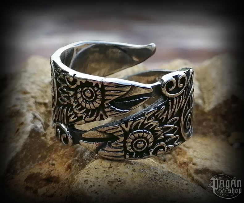 Ring Viking Hugin a Munin - 316L