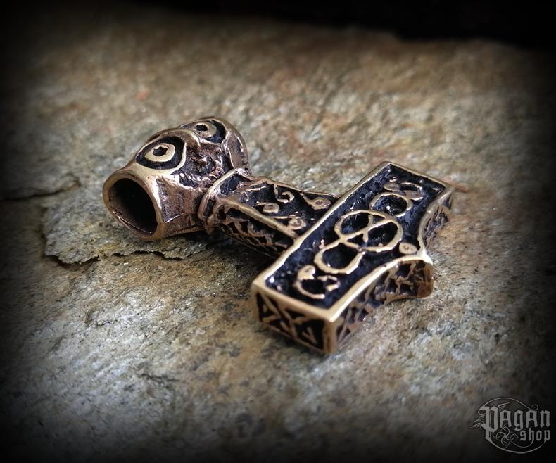 Přívěsek Thorovo kladivo Thoron - bronz