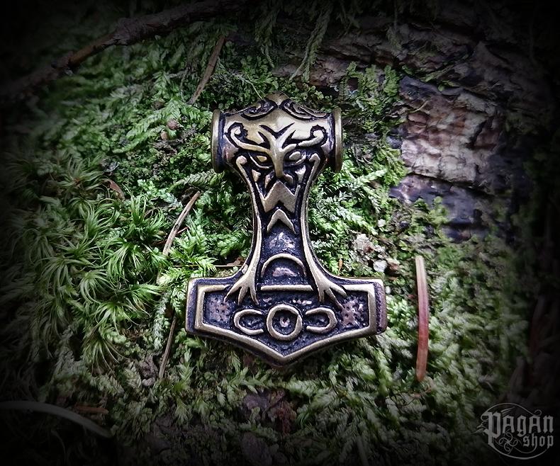 Pendant Thor's hammer Nordmann - bronze