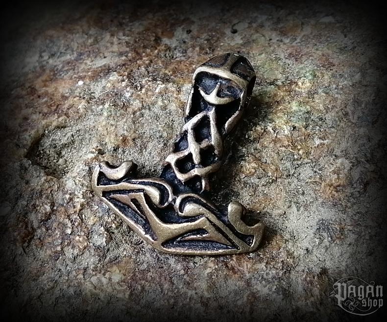 Pendant Thor's hammer Ragnarsson - bronze
