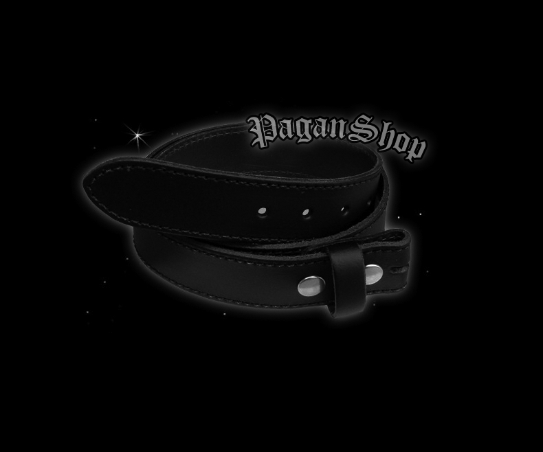 Black leather belt for buckle