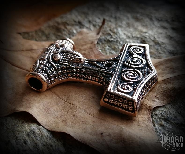Přívěsek Thorovo kladivo Thorthal - bronz