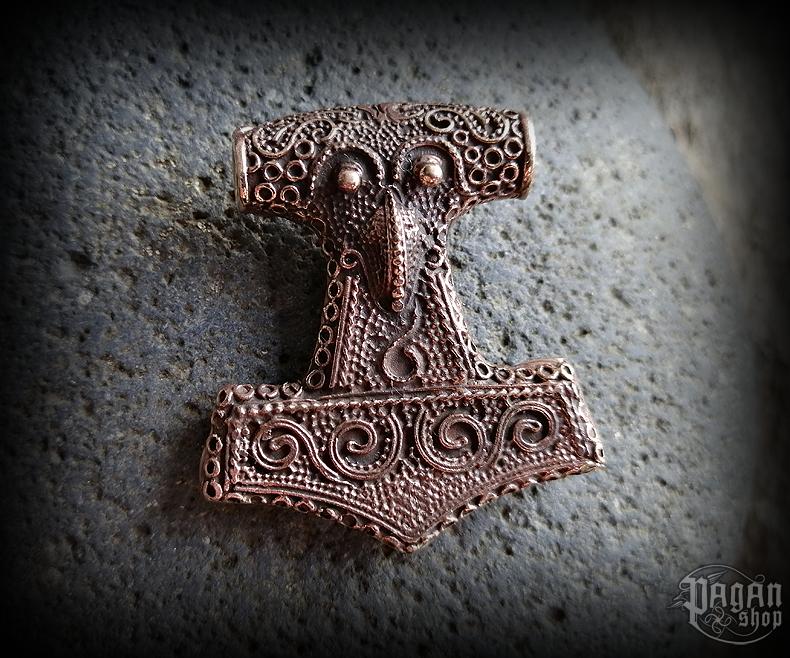 Pendant Thor's hammer Schonenhammer - bronze