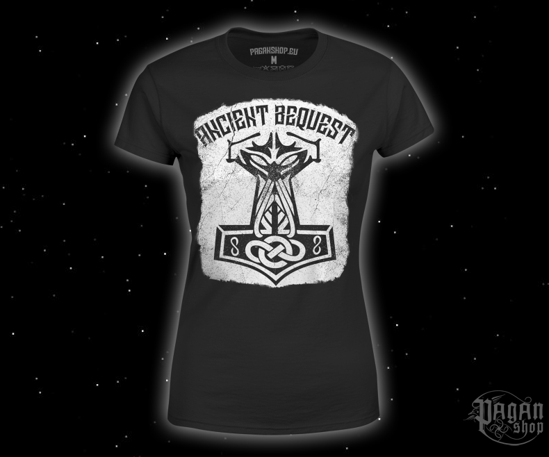 Dámské triko Ancient Bequest s bílým potiskem