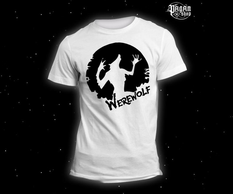 Triko Werewolf bílé
