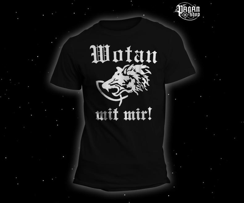 Triko Wotan mit mir! černé