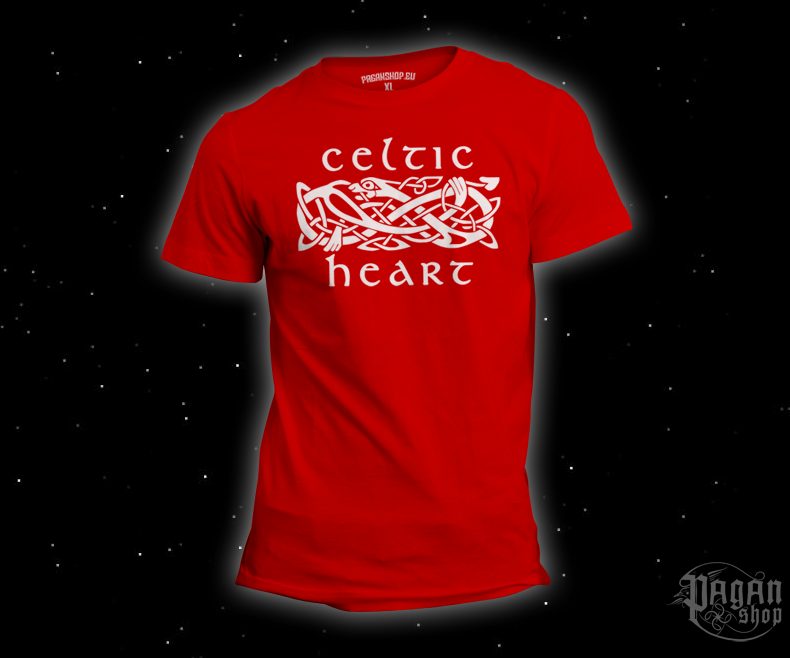 T-shirt Celtic heart red
