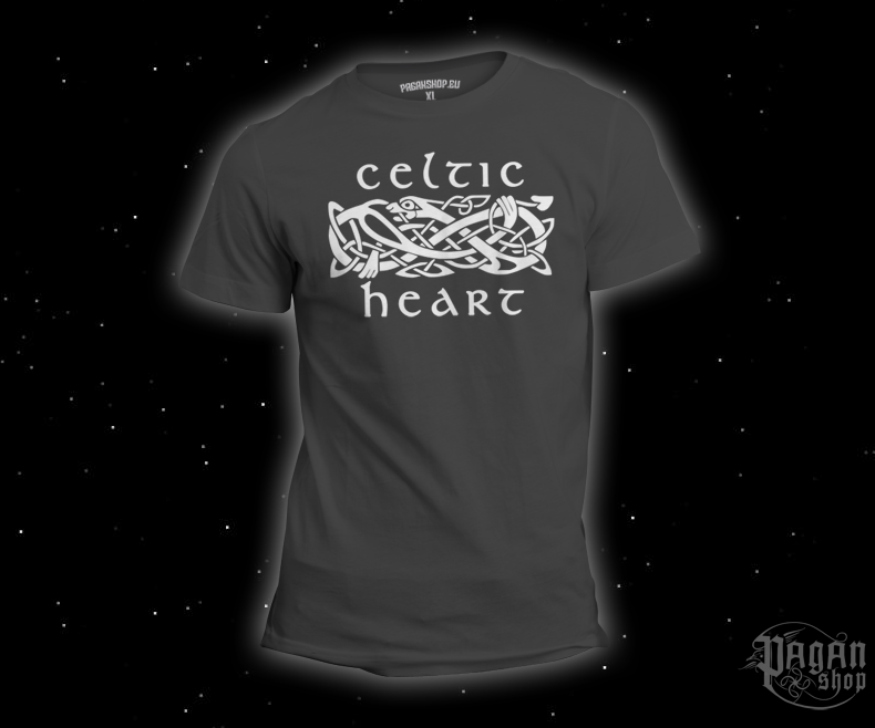 T-shirt Celtic heart grey