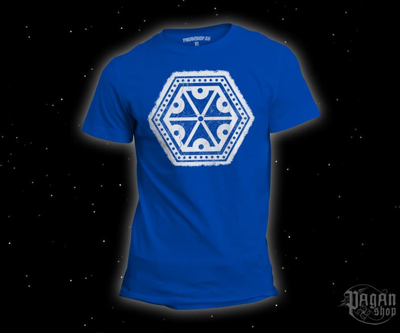 Triko Znak hromu Perun světle modré