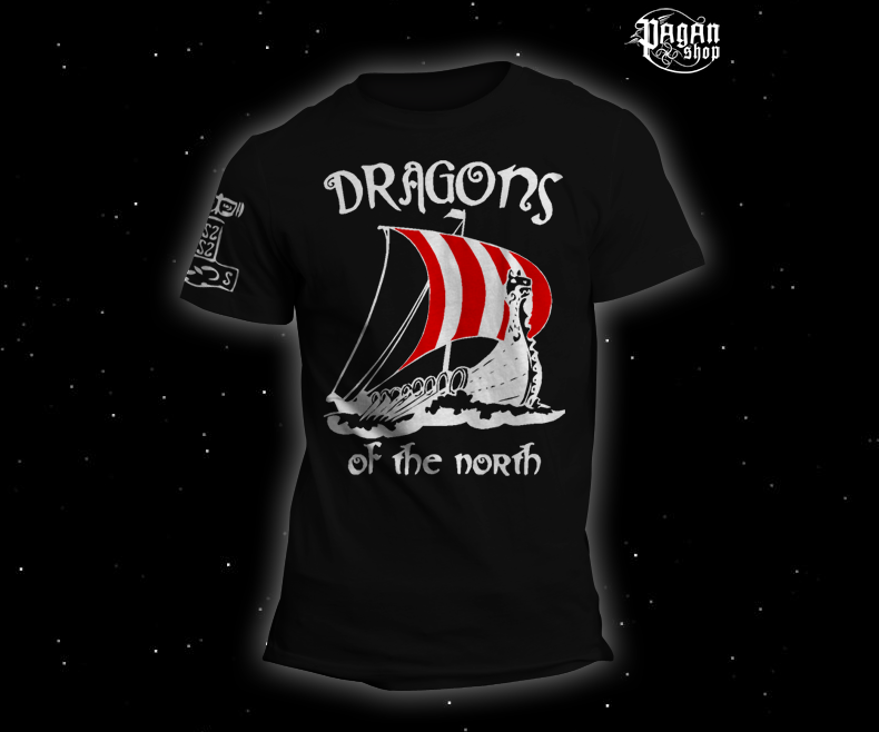 T-shirt Dragons of the north