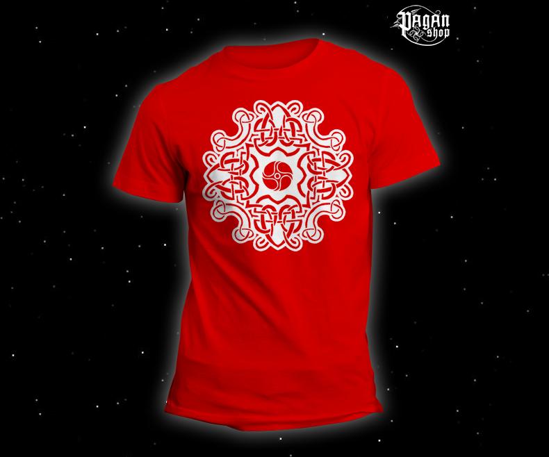 Triko Keltský vzor červené