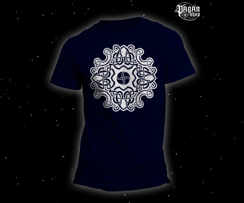 Triko Keltský vzor tmavě modré