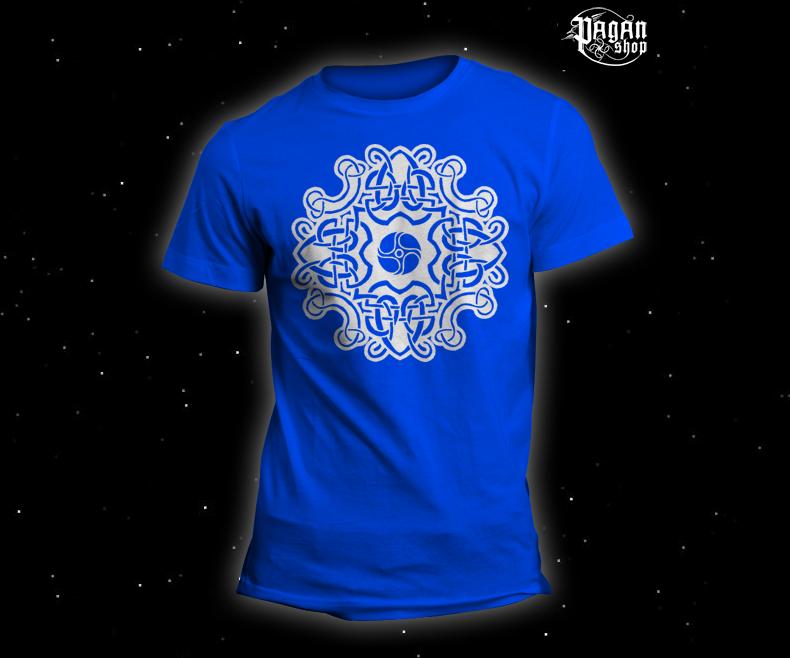 Triko Keltský vzor světle modré