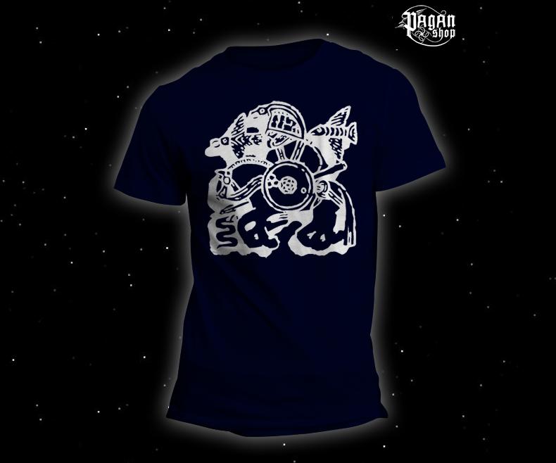 Triko Odin a Sleipnir tmavě modré