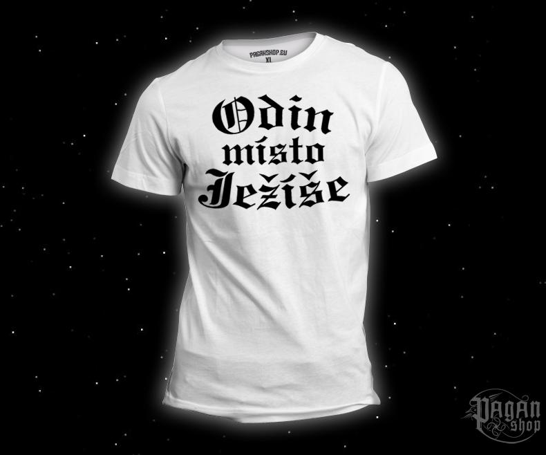 Triko Odin místo Ježíše bílé