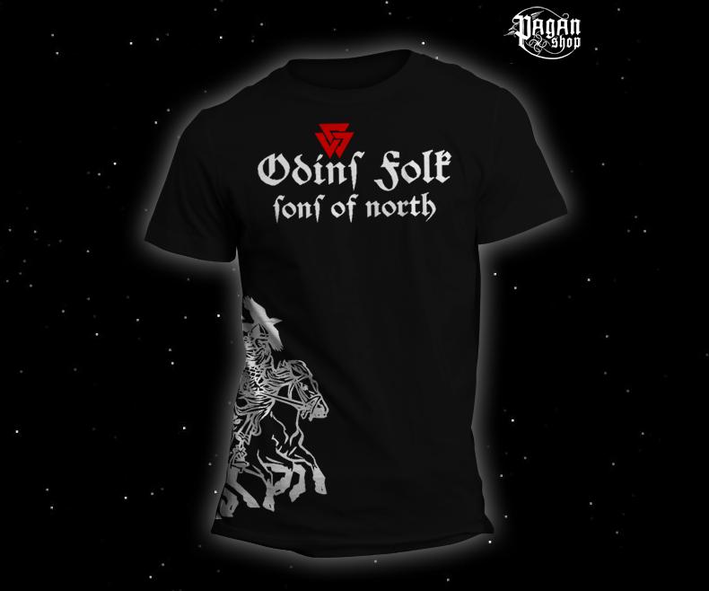 Triko Odin's Folk černé
