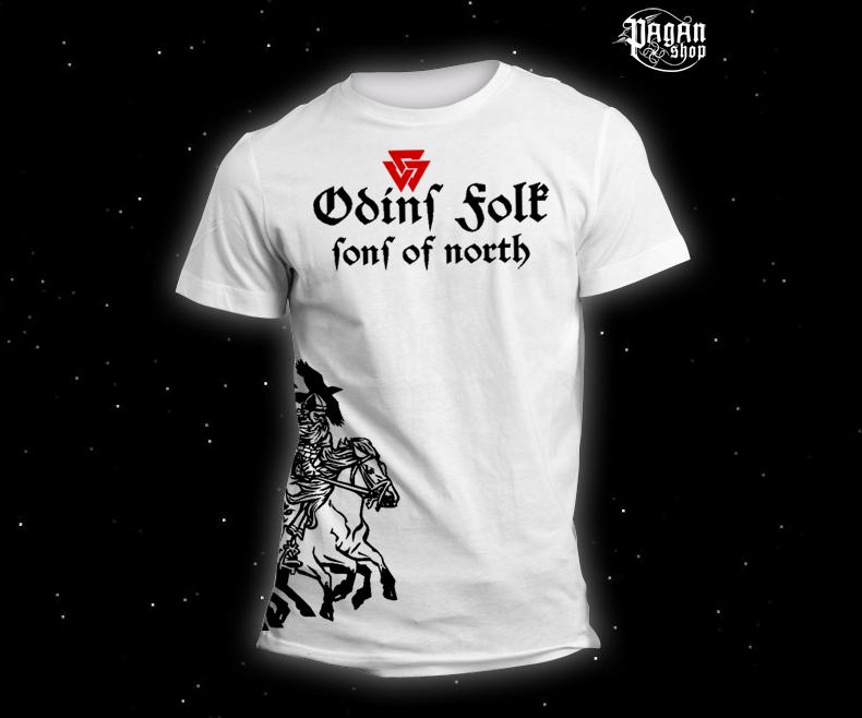 Triko Odin's Folk bílé