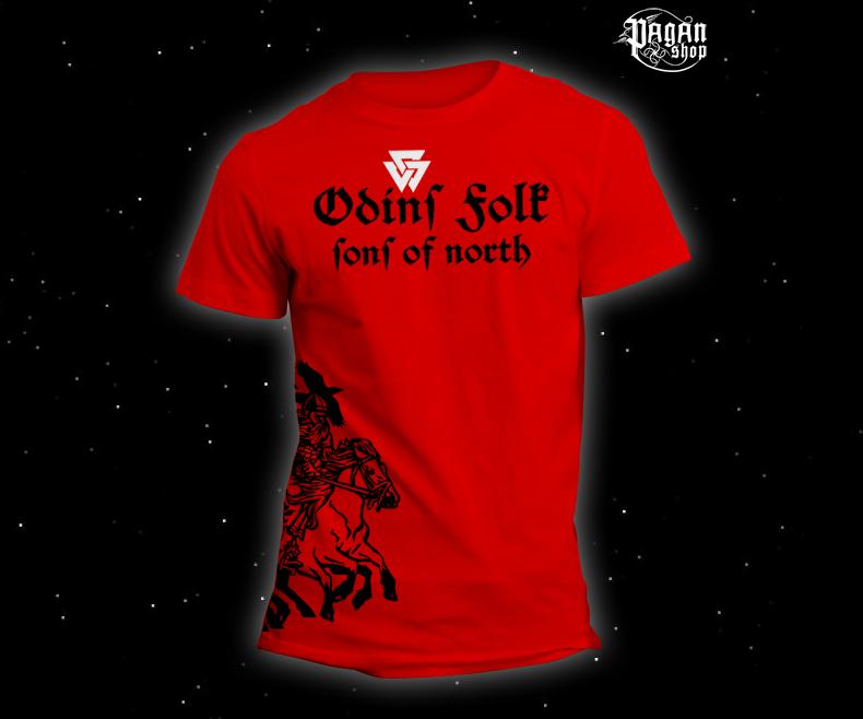 Triko Odin's Folk červené