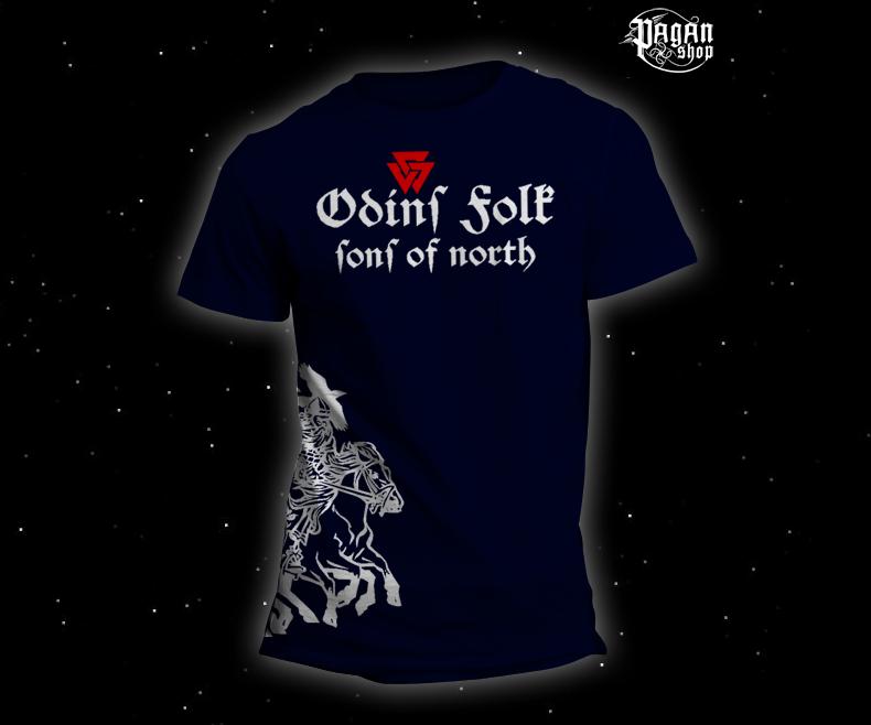 Triko Odin's Folk tmavě modré