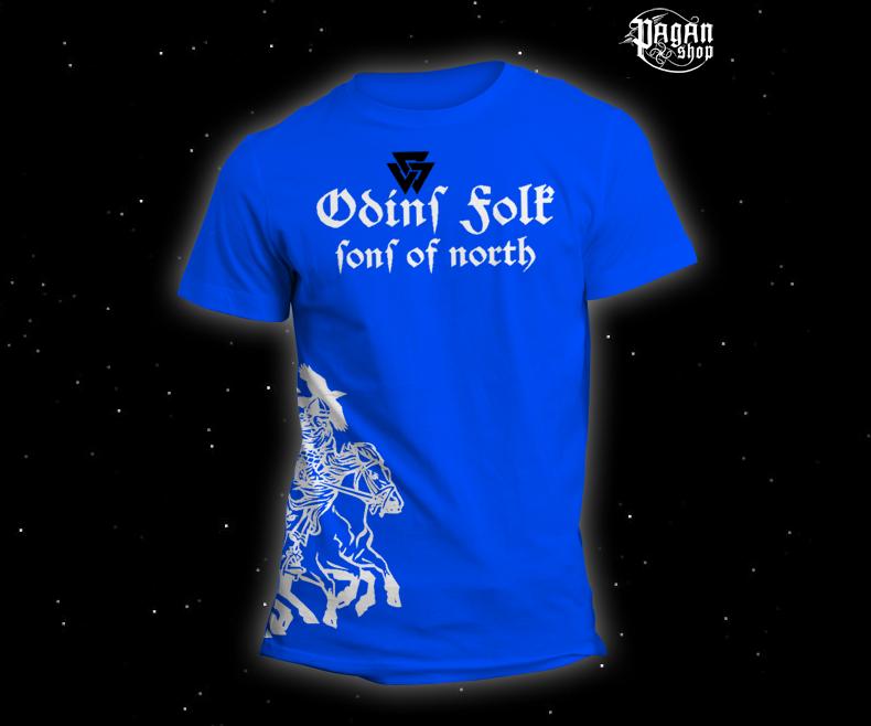 Triko Odin's Folk světle modré