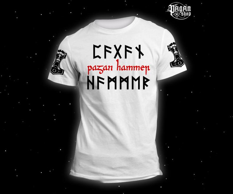 Triko Pagan Hammer bílé
