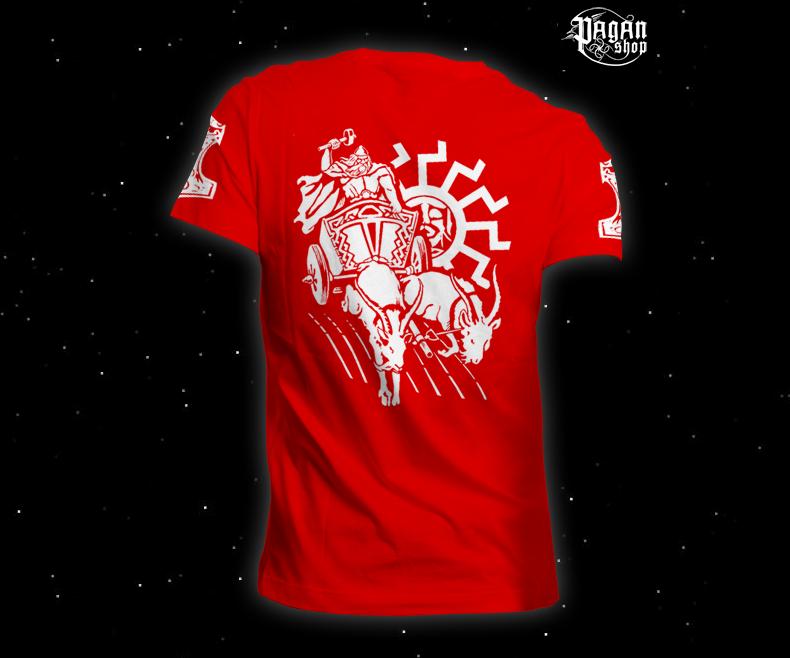 Triko Pagan Hammer červené