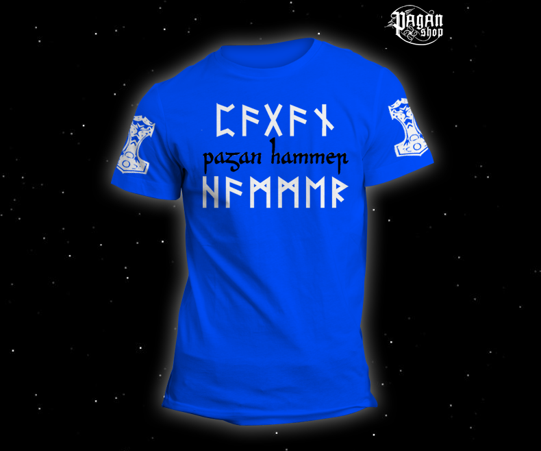 Triko Pagan Hammer světle modré