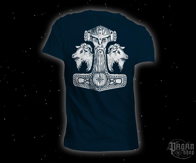 Triko Pagan Pride tmavě modré