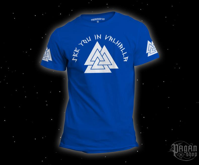 Triko See you in Valhalla světle modré